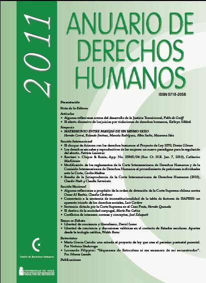 Anuario de Derechos Humanos 2011